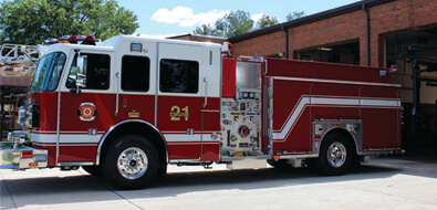 Red Covington fire truck