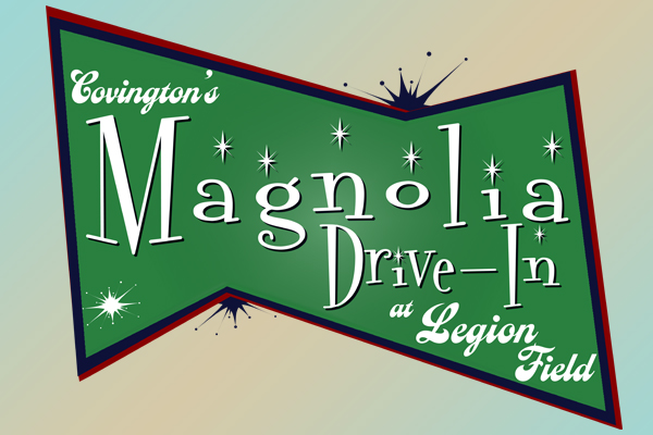 Magnolia Drive-In green fifties style logo