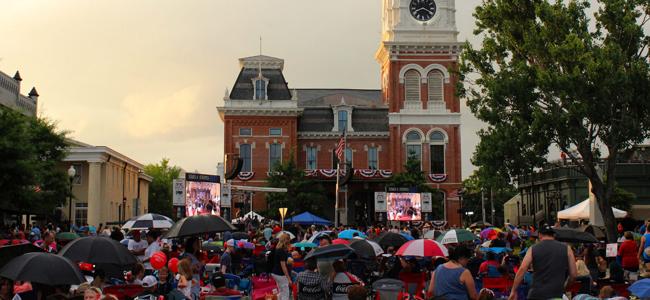 4th of July celebration at Covington Square
